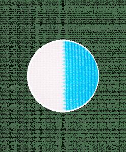Malla Raschel azul blanco 80%